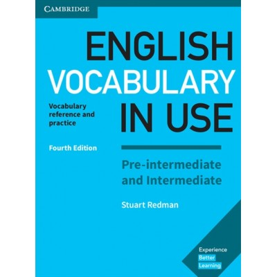 English Vocabulary in Use Pre-intermediate and Intermediate Fourth Edition Book with answers